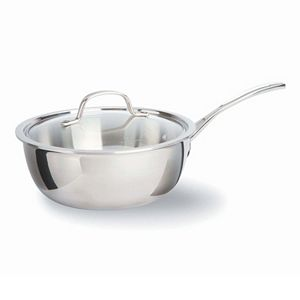 Calphalon Tri-Ply Stainless Steel 3-qt. Covered Chef's Pan