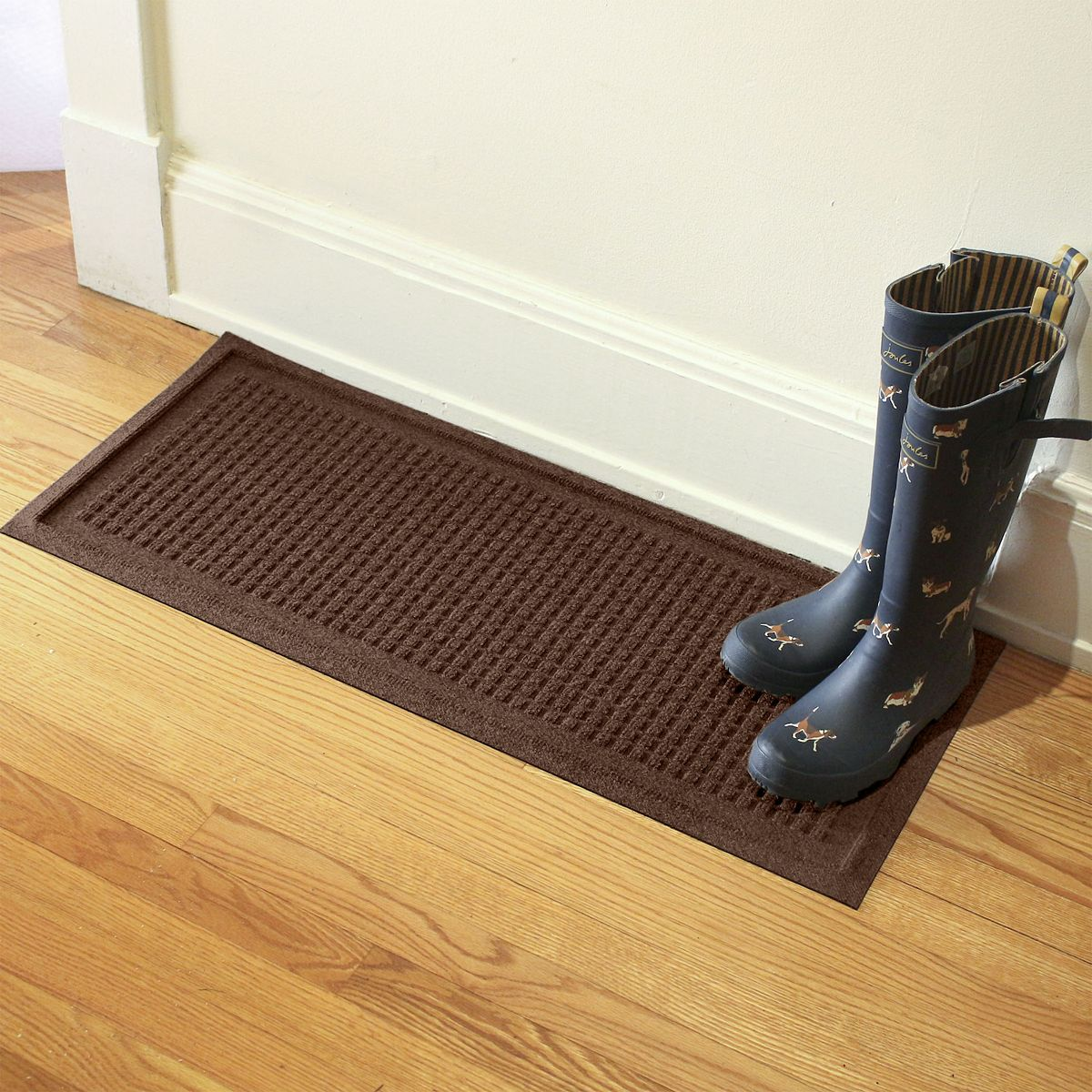 Squares WaterGuard Boot Tray Dark Brown DnEBW