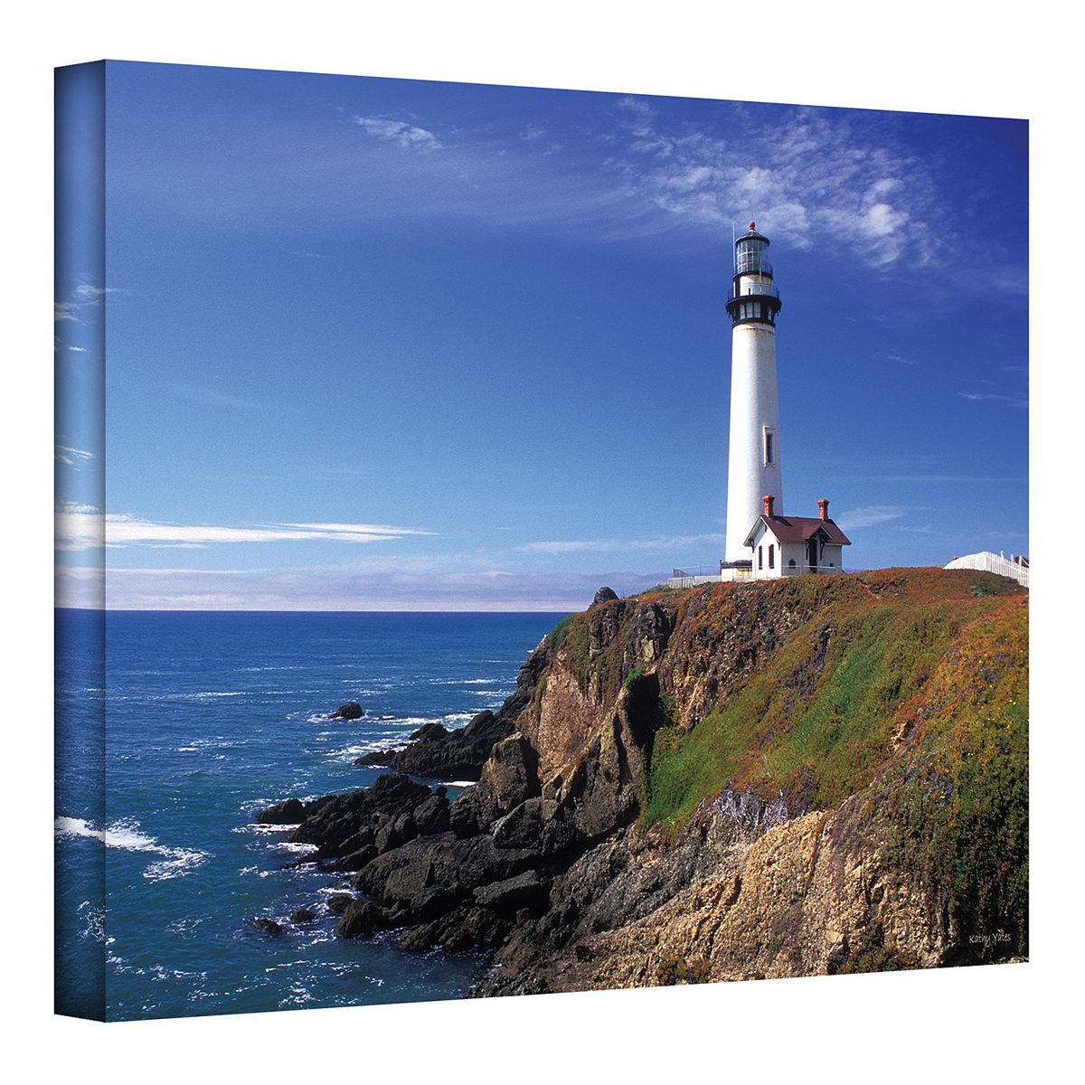 ''Pigeon Point Lighthouse'' Canvas Wall Art by Kathy Yates 422uo