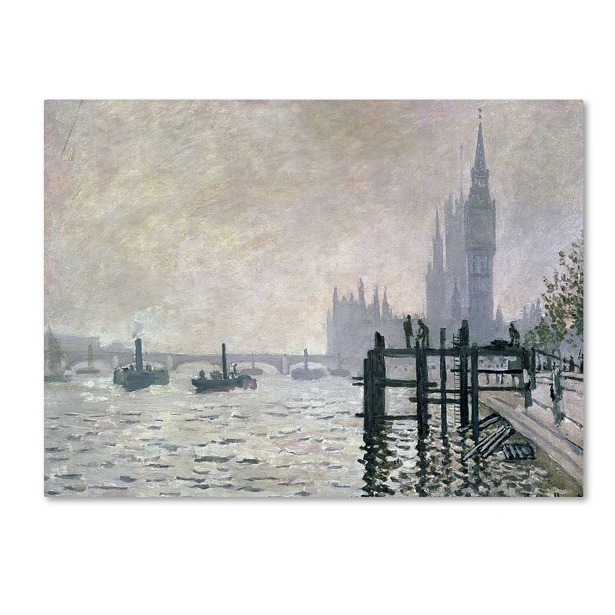 ''The Thames Below Westminster'' Canvas Wall Art by Claude Monet Sq7p8