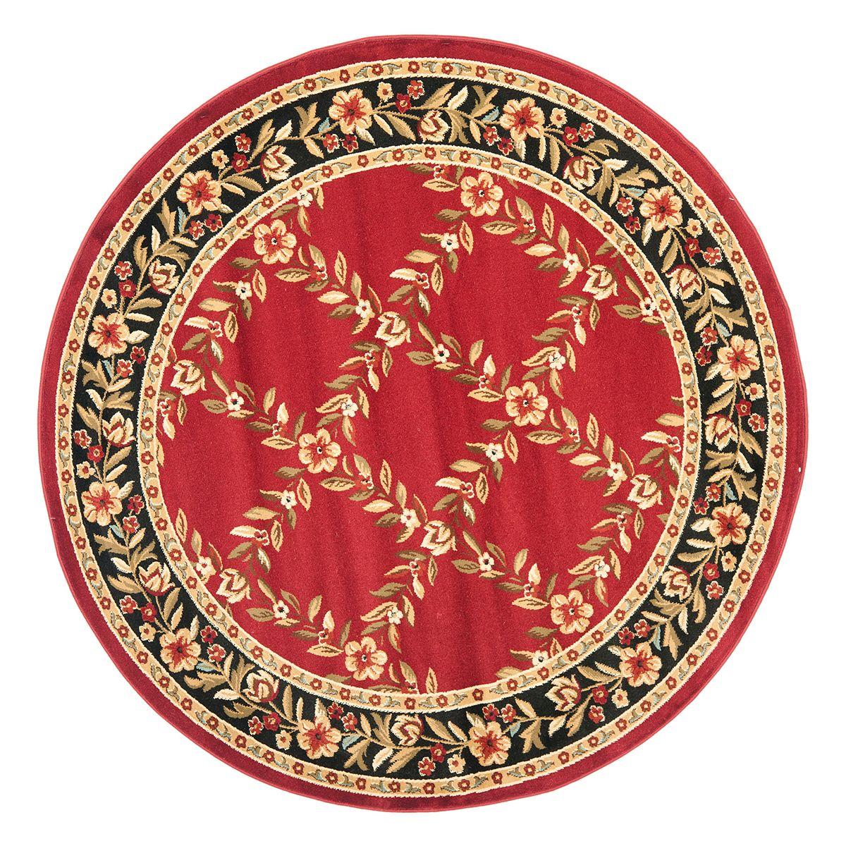 Safavieh Lyndhurst Framed Floral Rug Red Black I5r4v