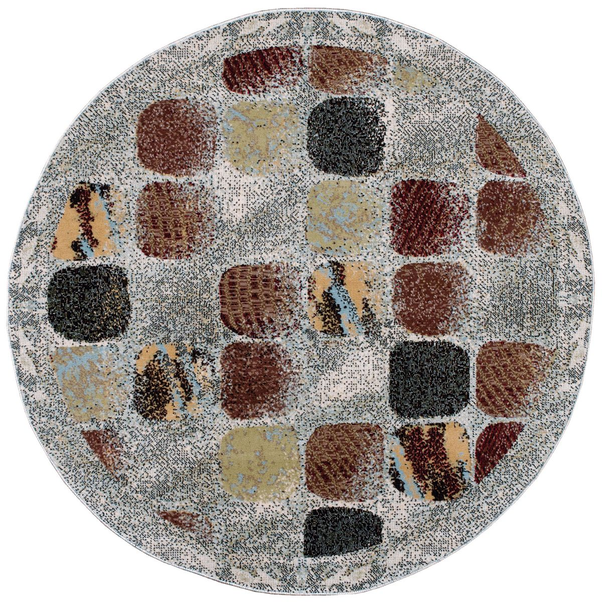 Nourison Modesto Abstract Mosaic Rug Charcoal ErtJ5