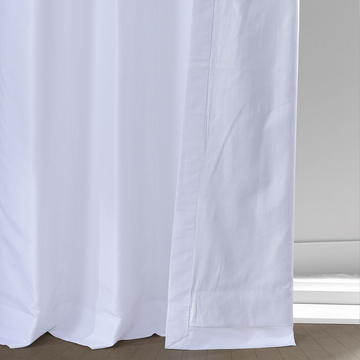 EFF 1-Panel Grommet Blackout Vintage Textured Faux Silk Duponi Window Curtain Smokey Plum 3NCYT