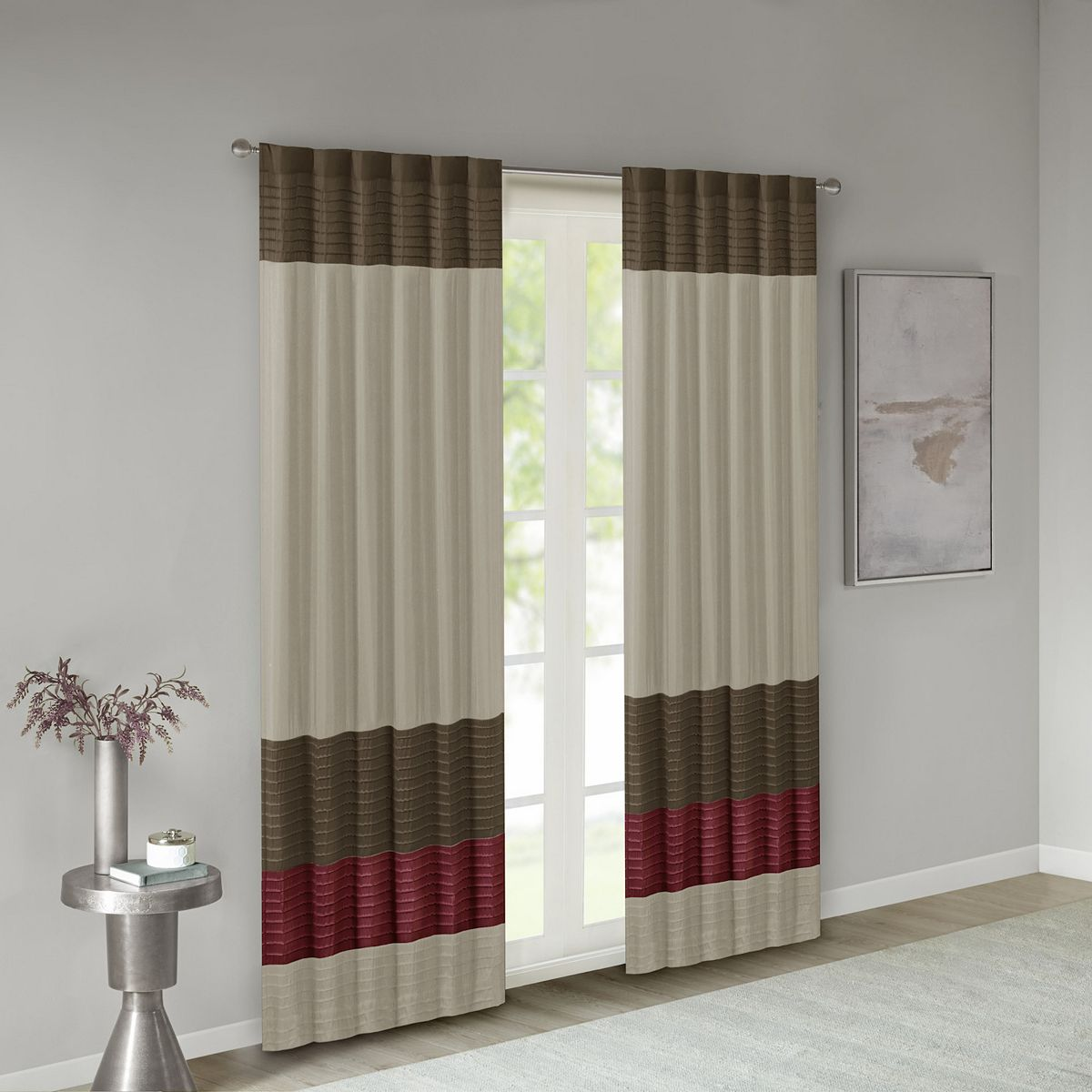 Madison Park 1-Panel Window Curtain - 50'' x 84'' Gray iEGXp