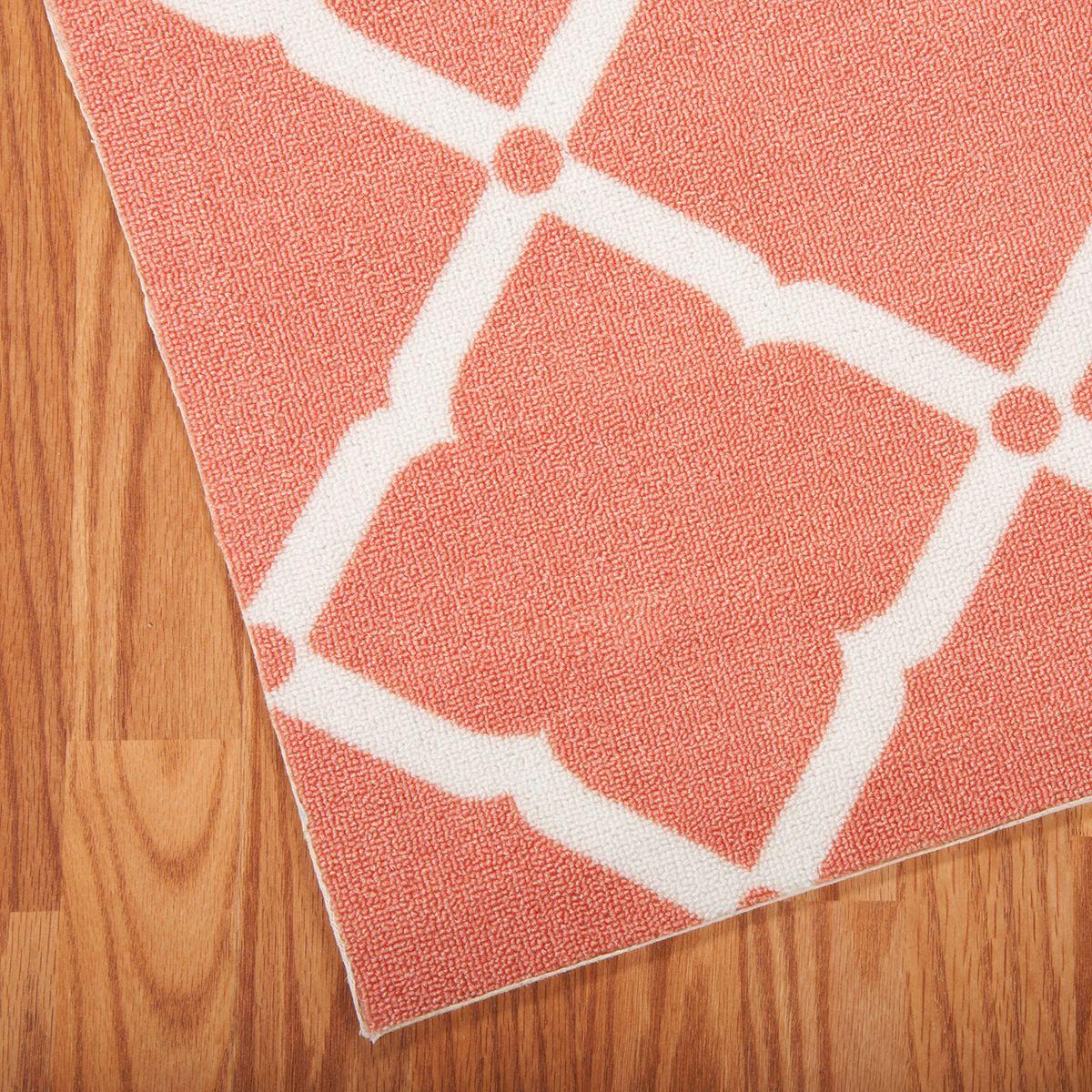 Nourison Home & Garden Diamond Lattice Indoor Outdoor Rug Orange HJChz