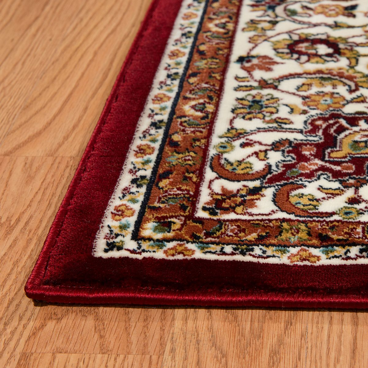 United Weavers Antiquities Isphahan Framed Floral Rug Ivory icQTB