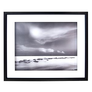 New View Black & White Tide Framed Wall Art