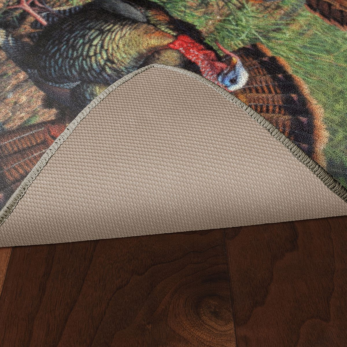 Brumlow Mills Grounded in Tradition Wild Turkey Printed Rug k1Q6D