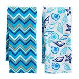 Mainstreet Pattern Seashell Kitchen Towel 2-pk.