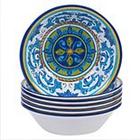 Certified International Lucca 6-piece Melamine All-Purpose Bowl Set