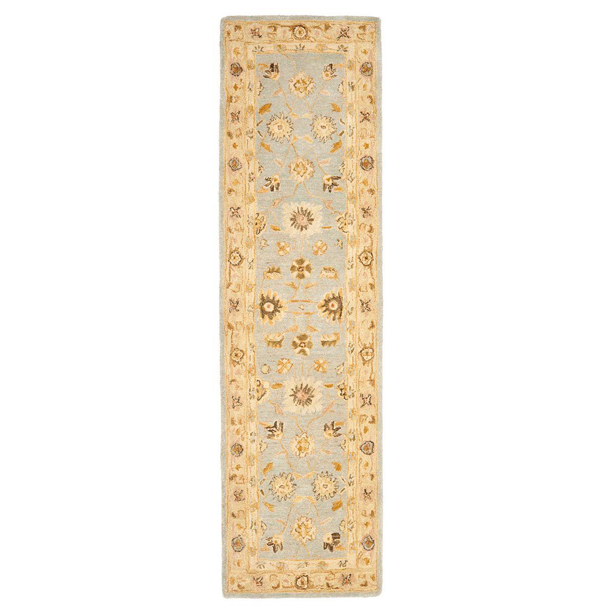 Safavieh Anatolia Rochelle Framed Floral Wool Rug  Light Blue Sage qb2kF