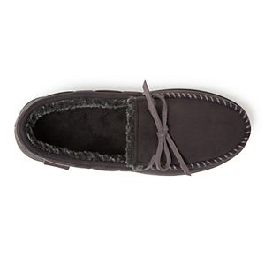 Men's Dearfoams Whipstitch Trim Microsuede Moccasin Slippers