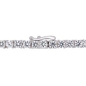 Stella Grace Sterling Silver White Sapphire Heart Bracelet