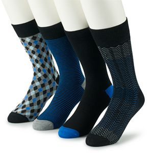 Men's Croft & Barrow® 4-pack Opticool Dress Hosiery
