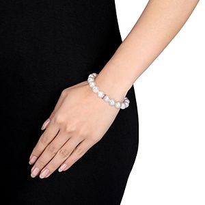 Stella Grace Sterling Silver Freshwater Cultured Pearl & Lab-Created Ruby Bracelet