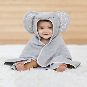 Baby Just Born Elephant Hooded Towel