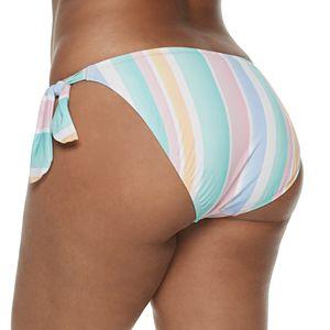Juniors' Plus Size SO Surf Stripe Hipster Swim Bottoms