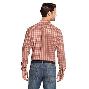Men's Arrow Hamilton Plaid Poplin Button-Down Shirt