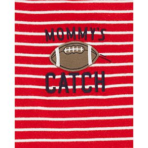 "Baby Boy Carter's 3 Piece ""Mommy's Catch"" Striped Football Tee, Bodysuit & Pants Set"