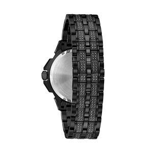 Bulova Men's Crystal Pave Black Ion-Plated Chronograph Watch - 98C134