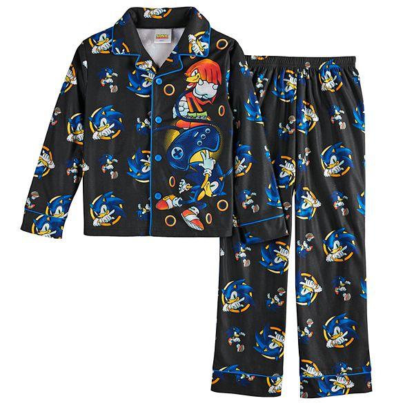 Boys 4 16 Sonic The Hedgehog Pajama Set