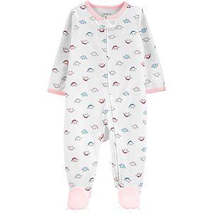 Baby Girl Carter's Dinosaur 2-Way Zip Cotton Sleep & Play