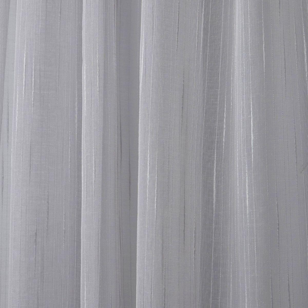 Nicole Miller 2-pack New York Wellington Embellished Slub Window Curtains Silver lVzME