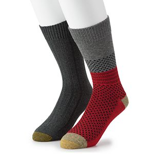 Men's GOLDTOE Lodge Collection 2pk Recycled Winter Mix Crew