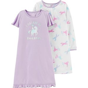 Toddler Girl Carter's 2-Pack Unicorn Nightgowns