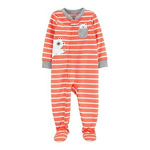 Baby Carter's Polar Bears Zip Footed Pajamas