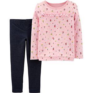 Baby Girl Carter's Floral Top & Denim Pant Set