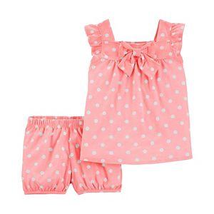 Baby Girl Carter's 2-Piece Polka Dot Tank & Short Set