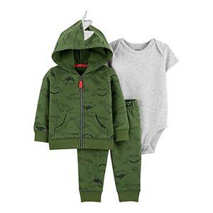 Baby Boy Carter's 3-Piece Dinosaur Little Jacket Set