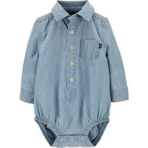 Baby Boy OshKosh B'gosh® Chambray Button-Front Pocket Bodysuit