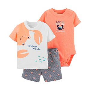 Baby Boy Carter's Crab Tee, Bodysuit & Shorts Set