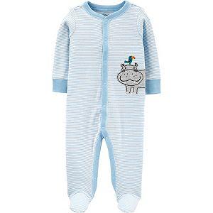 Baby Boy Carter's Hippo Snap-Up Cotton Sleep & Play