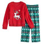 Girls 4-14 & Plus Size SO® Seasonal Cozy Sherpa Pajama Set