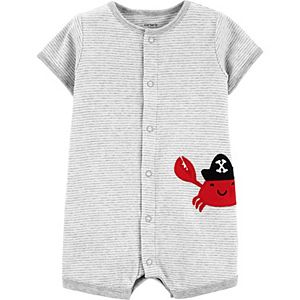 Baby Boy Carter's Crab Snap-Up Romper