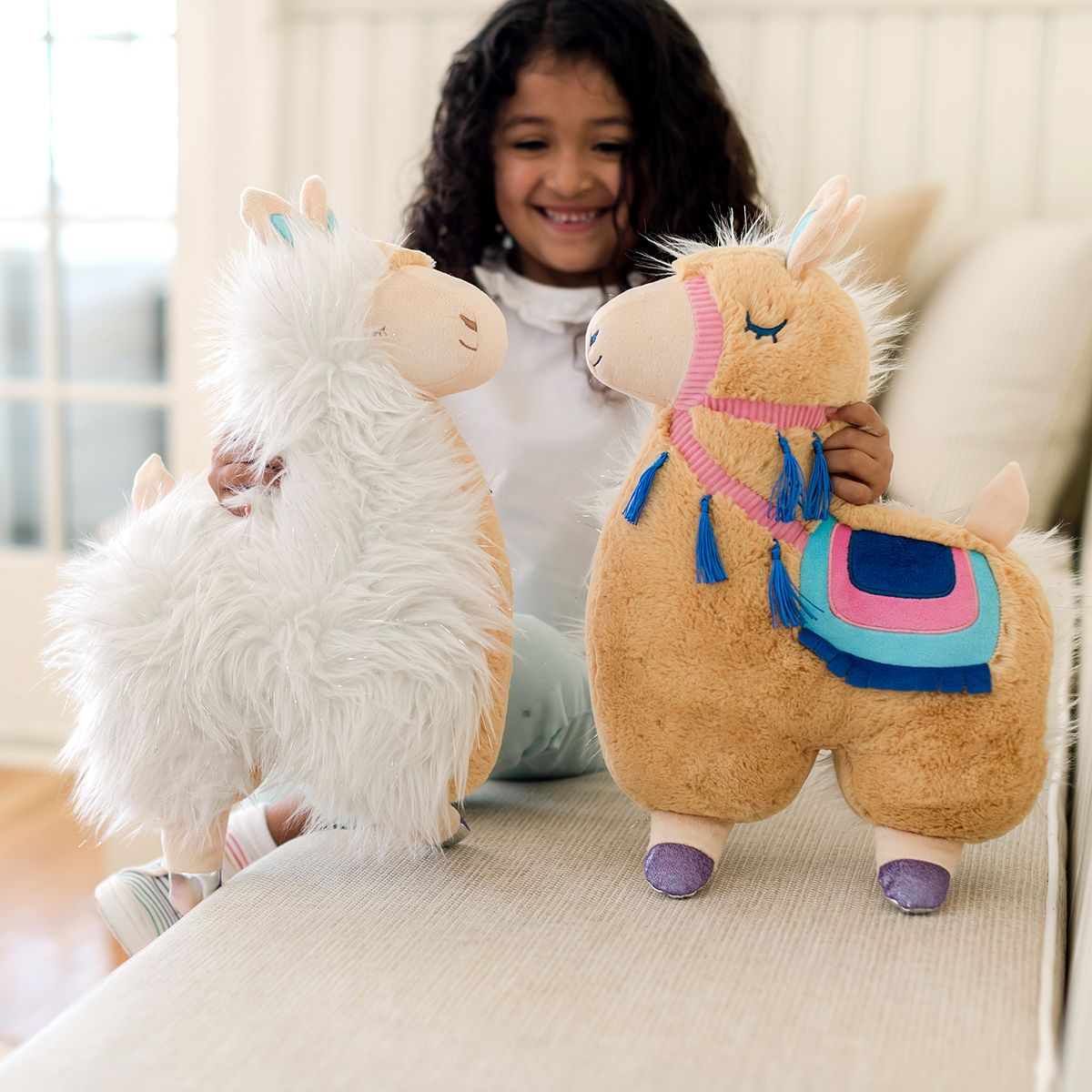 Animal Adventure Soft Landing Backflips Llama & Alpaca 2-in-1 Reversible Character Plush H8rGR
