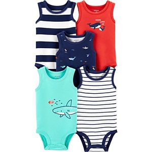 Baby Boy Carter's 5-Pack Whale Tank Bodysuits