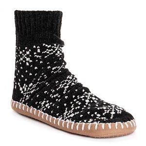 Women's MUK LUKS Chenille Short Slipper Socks