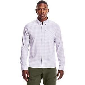 Men's Under Armour High Tide Plaid Golf Button-Down Shirt