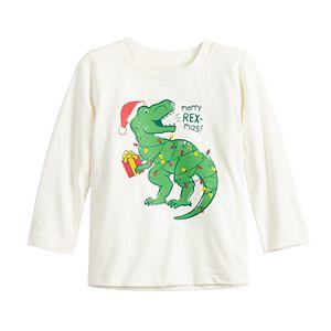 Baby Boy Jumping Beans® Christmas Dinosaur Graphic Tee