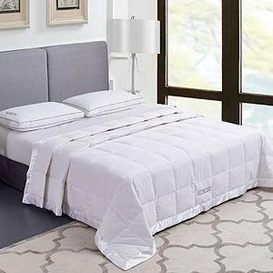Scott Living White Down Microfiber Blanket