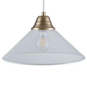 Southern Enterprises Bachman White Downlight Mini Pendant Lamp