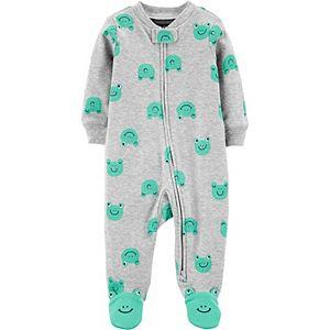 Baby Boy Carter's Frog 2-Way Zip Cotton Sleep & Play