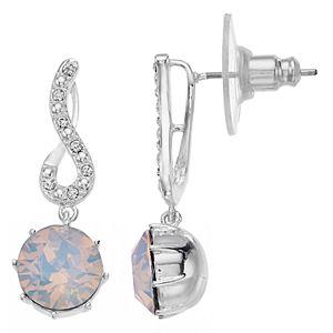 Brilliance Birthstone Twist Earrings with Swarovski Crystals