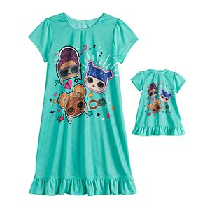 Girls 4-10 L.O.L. Surprise! Dorm Nightgown & Matching Doll Nightgown