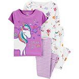 Toddler Girl Carter's 4 Piece Pajama Set