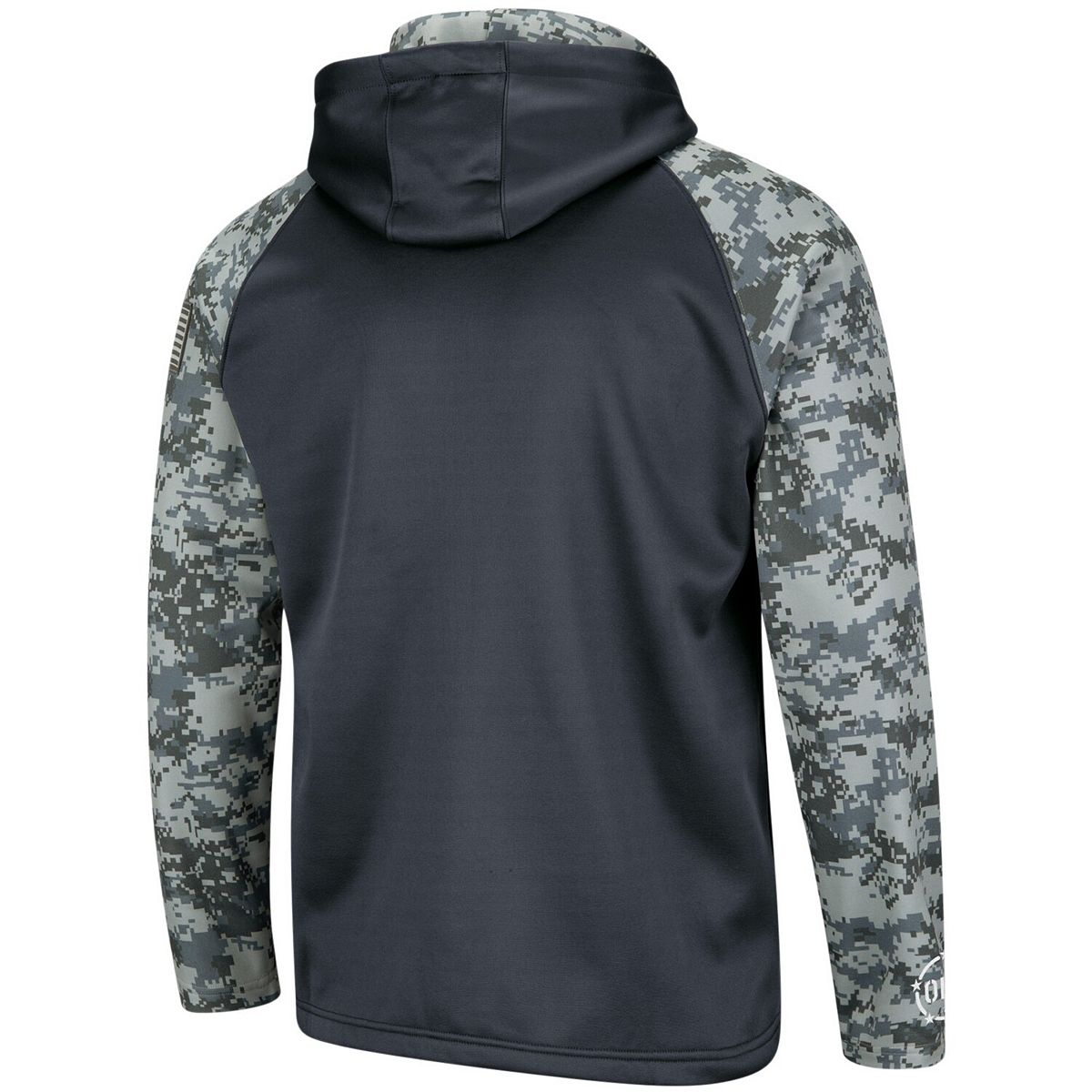 Men's Colosseum Charcoal/Camo Illinois Fighting Illini OHT Military Appreciation Digi Camo Raglan Full-Zip Hoodie Vooms